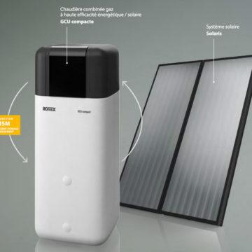 Chaudière GCU Daikin avec panneau solaire
