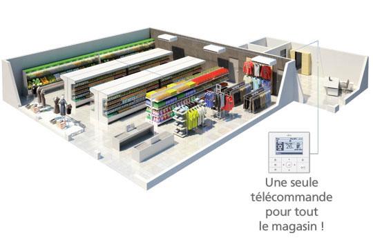 Console télécommande LRT vue magasin