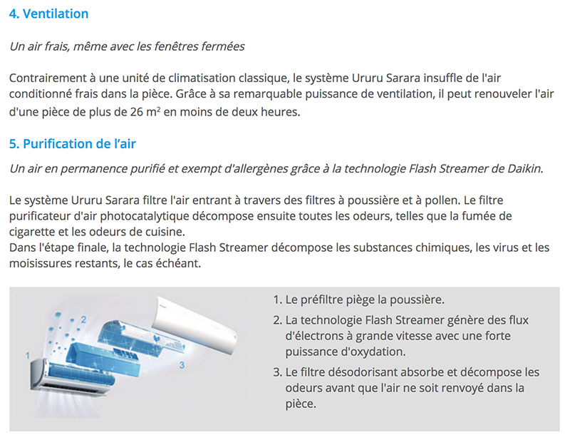 Ururu Sarara FTXZ ventilation purification